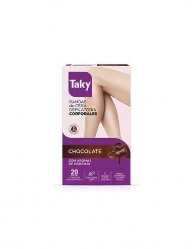 Cera fría 12 bandas corporales chocolate