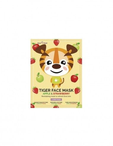 Mascarilla facial animal de tela Tigre