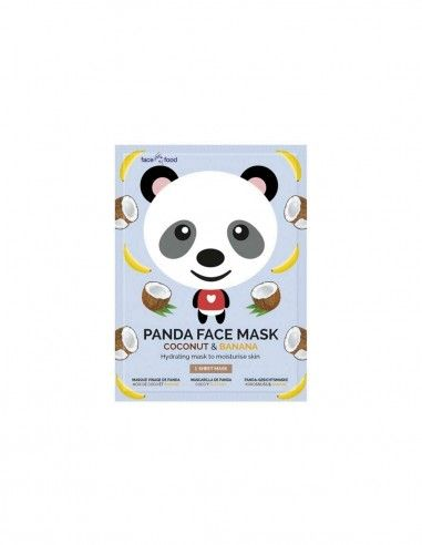 Mascarilla facial animal de tela Panda